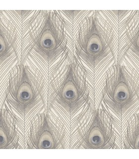 G67979 - Organic Textures Wallpaper by Patton-Peacock Feathers