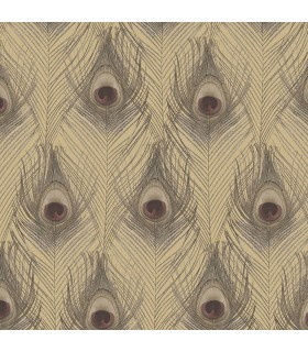 G67980 - Organic Textures Wallpaper by Patton-Peacock Feathers