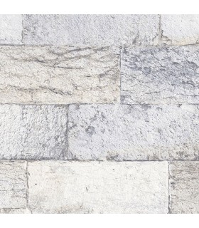 G67967 - Organic Textures Wallpaper by Patton-Faux Stone Brick