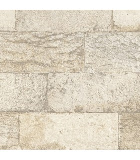 G67968 - Organic Textures Wallpaper by Patton-Faux Stone Brick