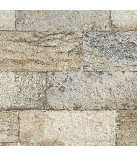 G67970 - Organic Textures Wallpaper by Patton-Faux Stone Brick