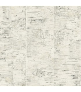 3118-12641 - Birch and Sparrow Wallpaper by Chesapeake-Champlain Wood Grid