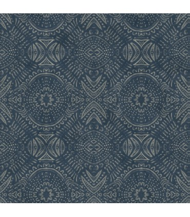 3118-12661 - Birch and Sparrow Wallpaper by Chesapeake-Java Medallion