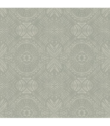 3118-12662 - Birch and Sparrow Wallpaper by Chesapeake-Java Medallion