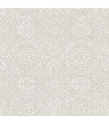 3118-12664 - Birch and Sparrow Wallpaper by Chesapeake-Java Medallion