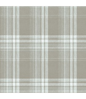 3118-12672 - Birch and Sparrow Wallpaper by Chesapeake-Saranac Flannel Plaid