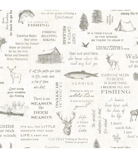 3118-01473 - Birch and Sparrow Wallpaper by Chesapeake-North Hills Camping Quotes