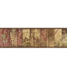 3118-01552B - Birch and Sparrow Wallpaper by Chesapeake-Foliage Botanical Border