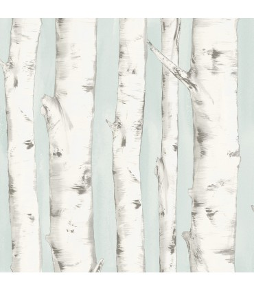 3118-12602 - Birch and Sparrow Wallpaper by Chesapeake-Pioneer Birch Tree