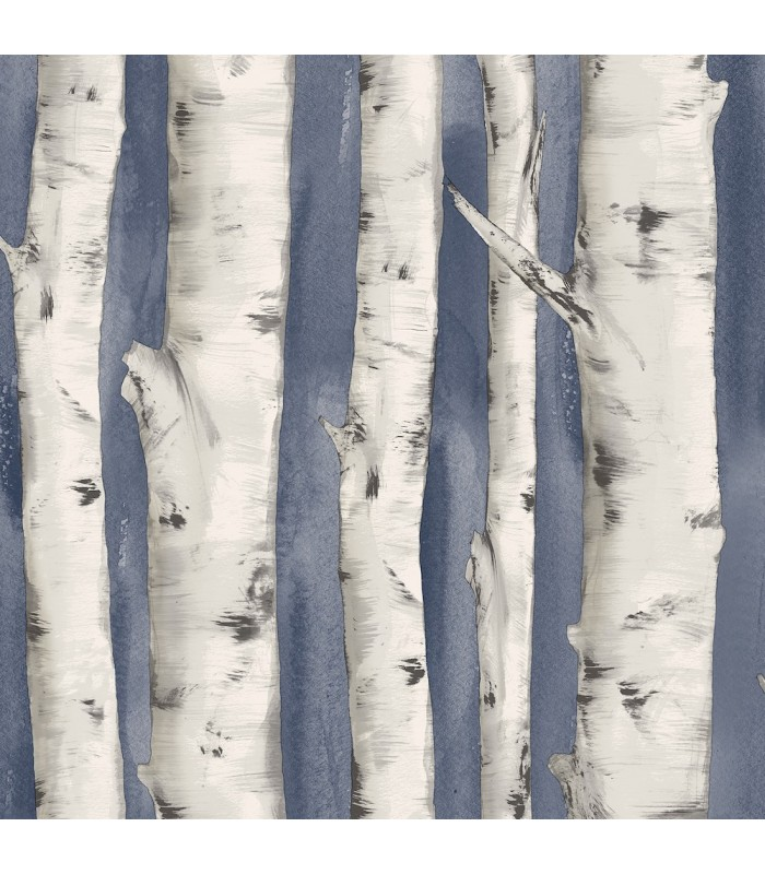 3118-12604 - Birch and Sparrow Wallpaper by Chesapeake-Pioneer Birch tree