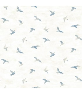 3118-12621 - Birch and Sparrow Wallpaper by Chesapeake-Soar Bird
