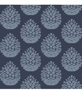 3118-25092 - Birch and Sparrow Wallpaper by Chesapeake-Totem Pinecone