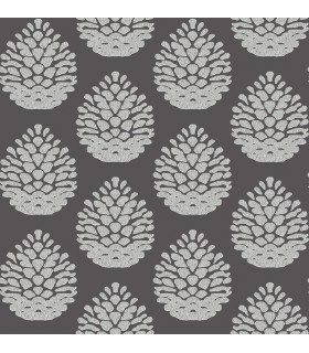 3118-25093 - Birch and Sparrow Wallpaper by Chesapeake-Totem Pinecone