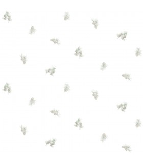 3118-49469 - Birch and Sparrow Wallpaper by Chesapeake-Pinecone Toss Conifer