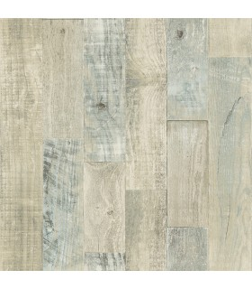 3118-12692 - Birch and Sparrow Wallpaper by Chesapeake-Chebacco Wooden Planks