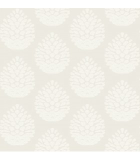 3118-25090 - Birch and Sparrow Wallpaper by Chesapeake-Totem Pinecone