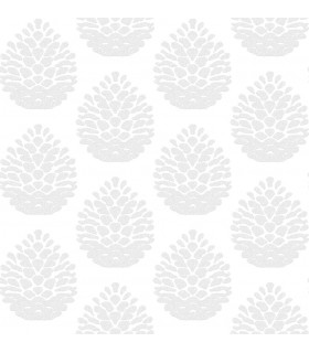 3118-25091 - Birch and Sparrow Wallpaper by Chesapeake-Totem Pinecone