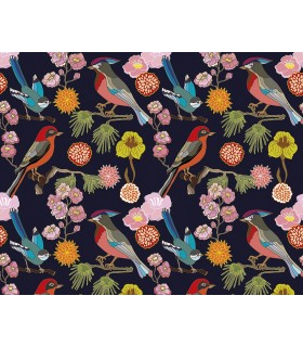 WALS0304 - Ohpopsi Wallpaper Mural-Floral Birds