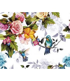 WALS0289 - Ohpopsi Wallpaper Mural-Hummingbird Garden