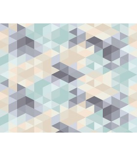 WALS0279 - Ohpopsi Wallpaper Mural-Pastel Triangles