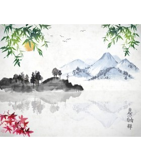 WALS0232 - Ohpopsi Wallpaper Mural-Chinese Lake