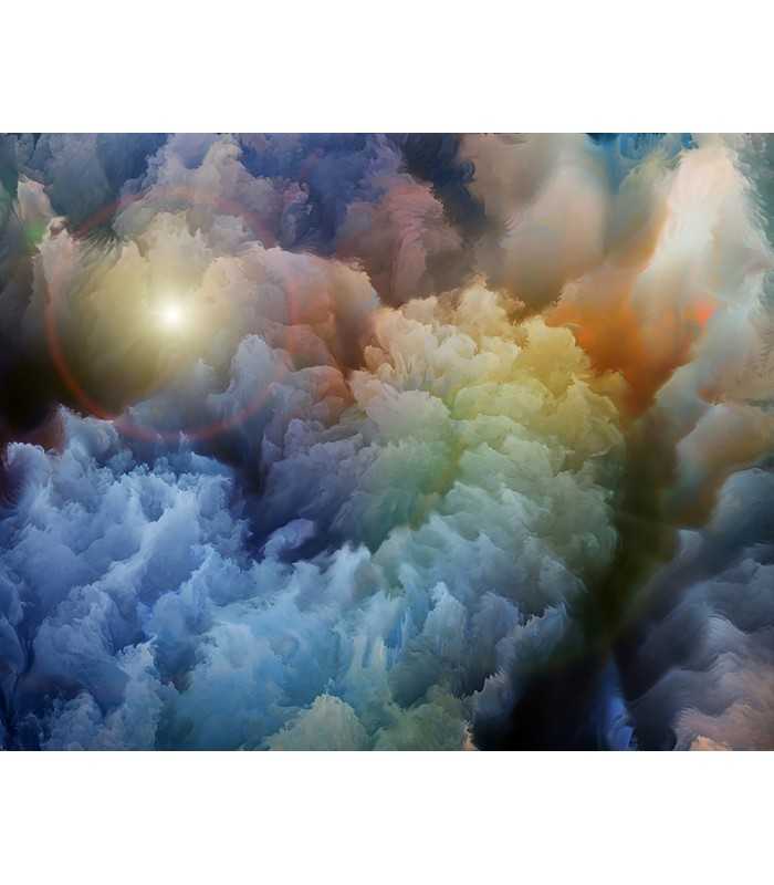 WALS0244 - Ohpopsi Wallpaper Mural-Moody Clouds