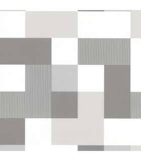 2836-24998 - Advantage Shades of Grey Wallpaper-Laurence Geometric