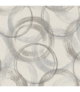 2836-467758 - Advantage Shades of Grey Wallpaper-Yorick Distressed Circles