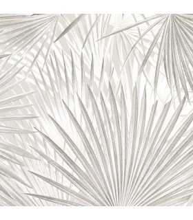 2836-803303 - Advantage Shades of Grey Wallpaper-Macduff Palm Fronds
