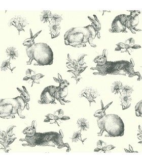 AT4263 - A Perfect World Wallpaper-Bunny Toile