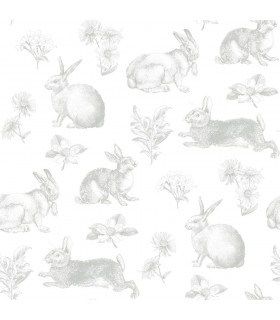 KI0580 - A Perfect World Wallpaper-Bunny Toile