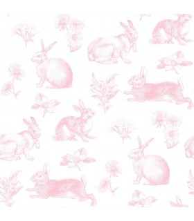 KI0582 - A Perfect World Wallpaper-Bunny Toile