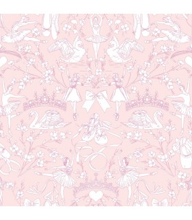 KI0500 - A Perfect World Wallpaper-Ballet Toile