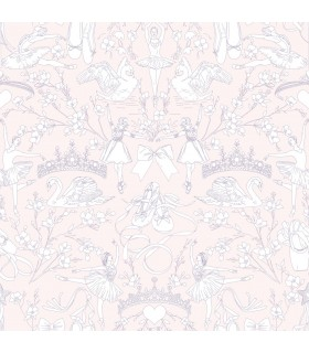 KI0501 - A Perfect World Wallpaper-Ballet Toile