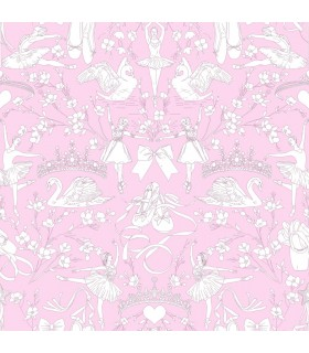 KI0502 - A Perfect World Wallpaper-Ballet Toile