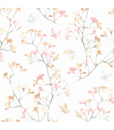 KI0514 - A Perfect World Wallpaper-Watercolor Branch