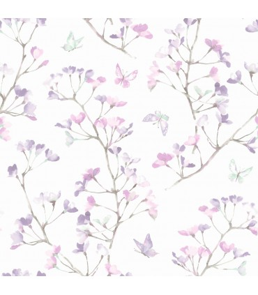 KI0515 - A Perfect World Wallpaper-Watercolor Branch