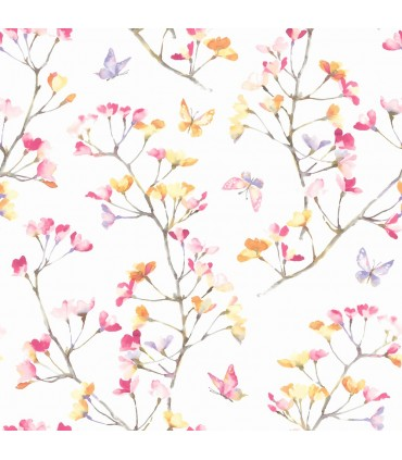 KI0516 - A Perfect World Wallpaper-Watercolor Branch