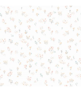 KI0519 - A Perfect World Wallpaper-Watercolor Floral Bouquet