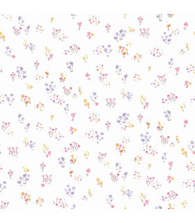 KI0521 - A Perfect World Wallpaper-Watercolor Floral Bouquet