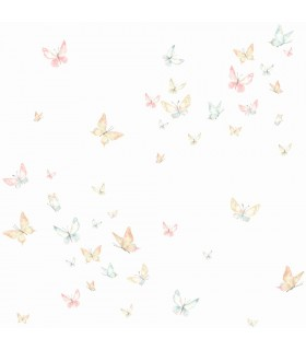 KI0524 - A Perfect World Wallpaper-Watercolor Butterfies