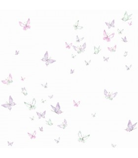 KI0525 - A Perfect World Wallpaper-Watercolor Butterfies