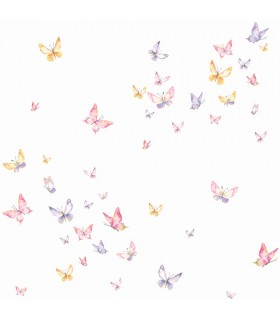 KI0526 - A Perfect World Wallpaper-Watercolor Butterfies
