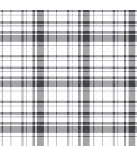 KI0528 - A Perfect World Wallpaper-Polka Dot Plaid