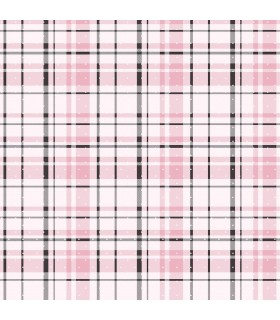 KI0529 - A Perfect World Wallpaper-Polka Dot Plaid