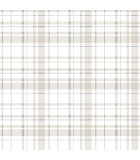 KI0531 - A Perfect World Wallpaper-Polka Dot Plaid