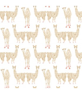 KI0555 - A Perfect World Wallpaper-Alpaca Pack