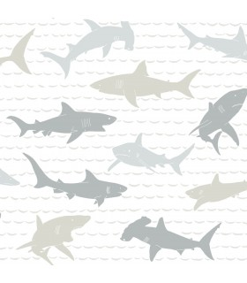 KI0565 - A Perfect World Wallpaper-Shark Charades