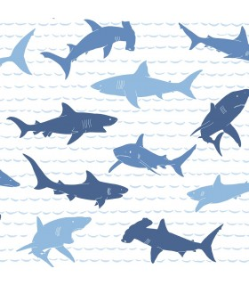 KI0566 - A Perfect World Wallpaper-Shark Charades