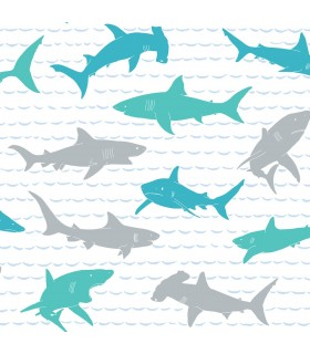 KI0567 - A Perfect World Wallpaper-Shark Charades